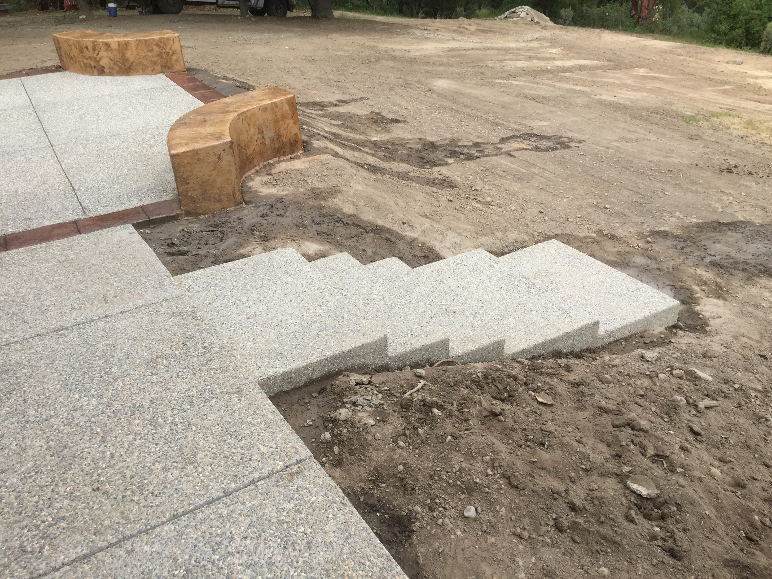 Exposed Aggregate Patio N.Fork 4