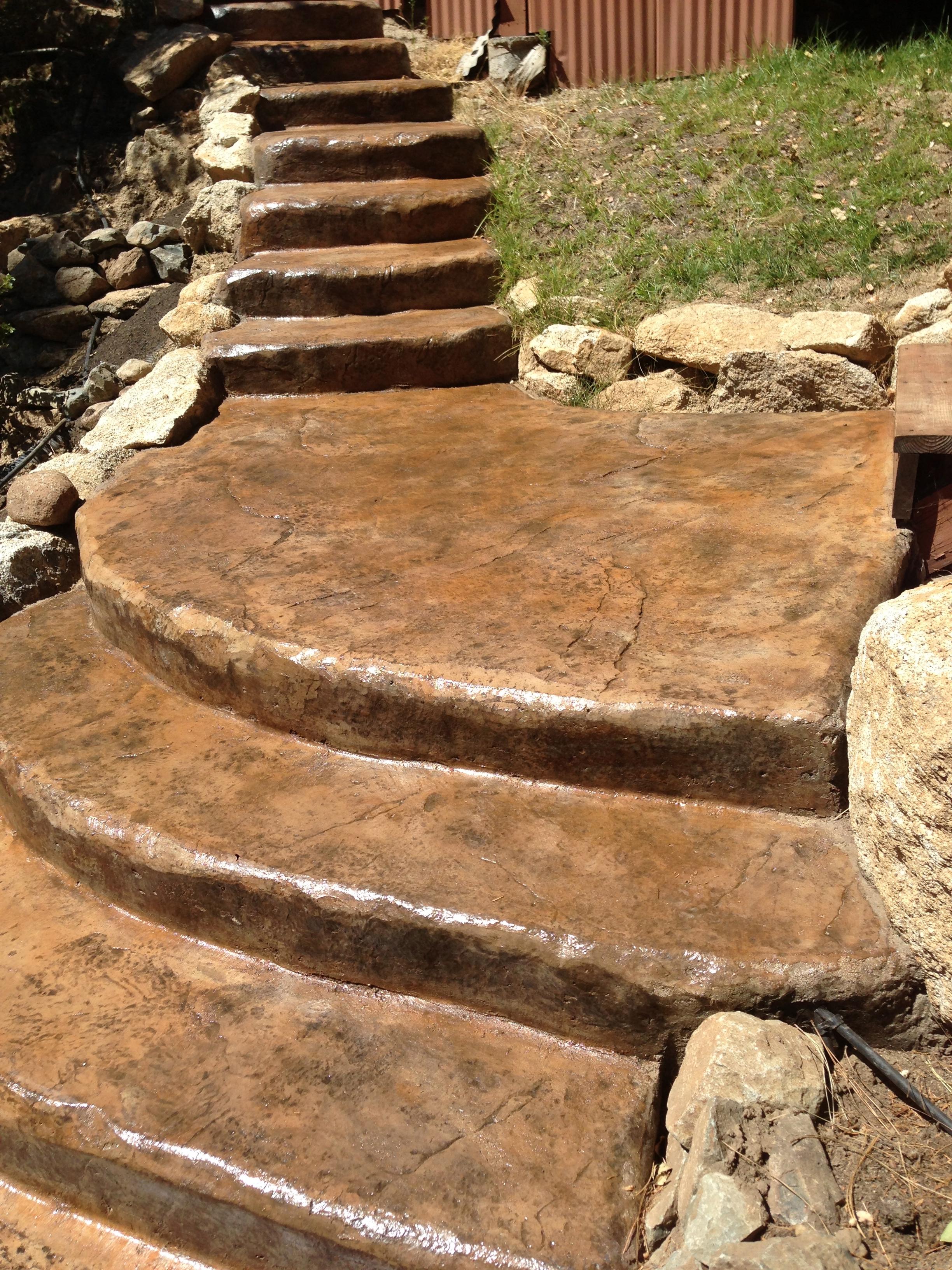 Decorative Concrete Stairs Surface Solutions Concrete Sf